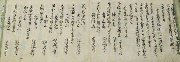 List of All the Temples of the Fuke Sect<BR>in the Various Provinces, dated 1792