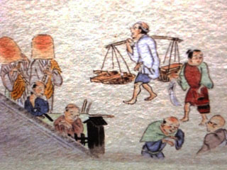 Two komusō in the 'Kidai shōran emaki', 1805