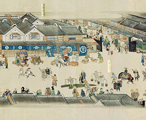 A larger view of the 'Kidai shōran emaki', 1805